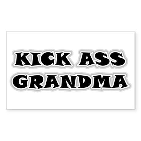 Kick Ass Grandma Rectangle Sticker