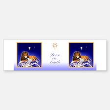 Lion & Lamb 'Peace on Earth' ~ Bumper Bumper Bumper Sticker