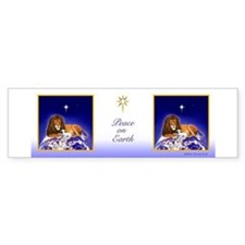 Lion & Lamb 'Peace on Earth' ~ Bumper Bumper Sticker