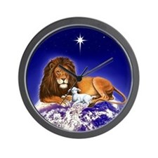 Lion & Lamb ~ Wall Clock