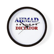 AHMAD for dictator Wall Clock