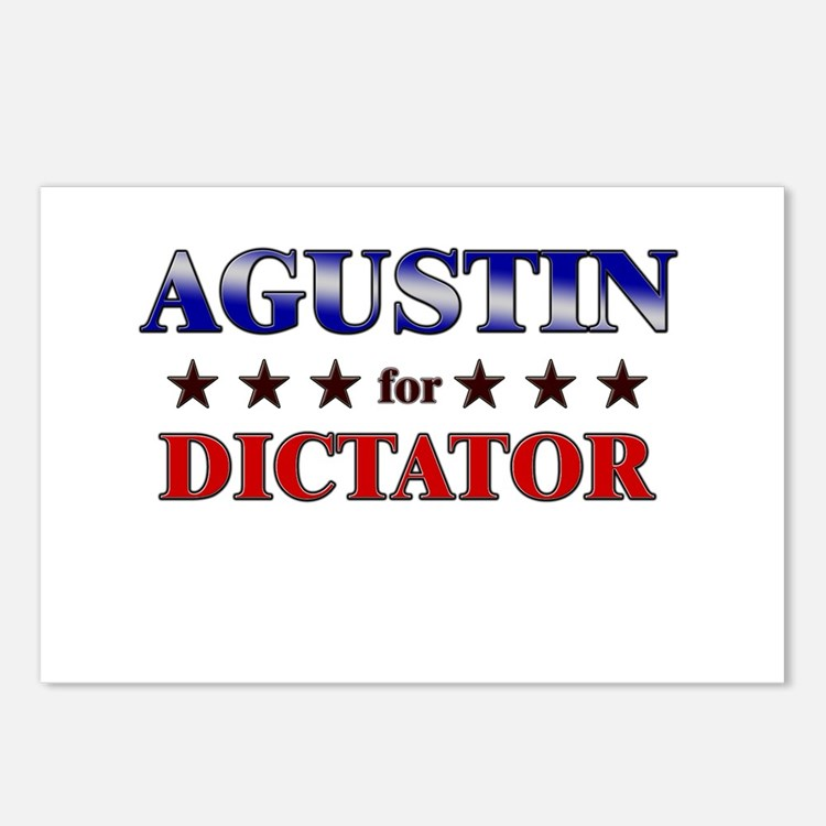 AGUSTIN for dictator Postcards (Package of 8)