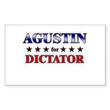 AGUSTIN for dictator Rectangle Decal
