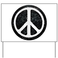 Original Vintage Peace Sign Yard Sign