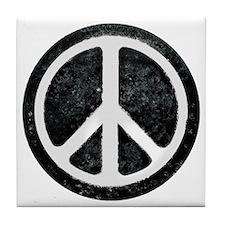 Original Vintage Peace Sign Tile Coaster