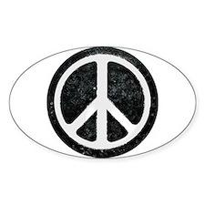 Original Vintage Peace Sign Oval Decal