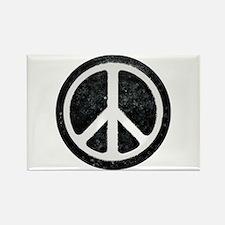 Original Vintage Peace Sign Rectangle Magnet (100