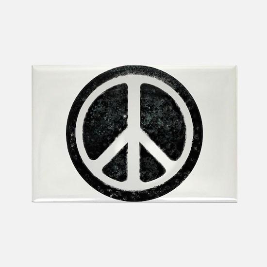 Original Vintage Peace Sign Rectangle Magnet