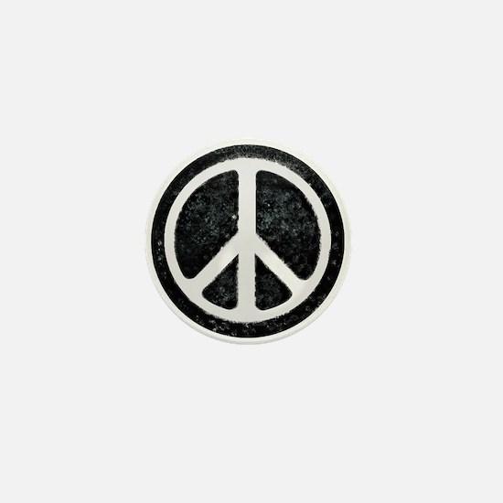 Original Vintage Peace Sign Mini Button