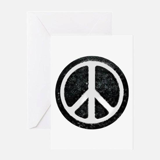 Original Vintage Peace Sign Greeting Card