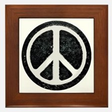 Original Vintage Peace Sign Framed Tile
