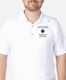 Ninja Psychologist Golf Shirt