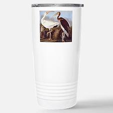 White Ibis Vintage Audubon Bird Travel Mug