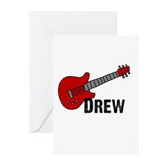 Guitar - Drew Greeting Cards (Pk of 20)