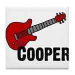 Guitar - Cooper Tile Coaster