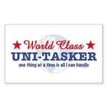 World Class Uni-Tasker Rectangle Sticker