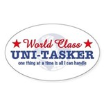 World Class Uni-Tasker Oval Sticker