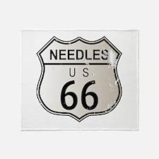 Needles Route 66 Throw Blanket