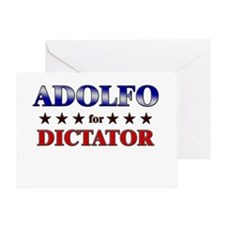 ADOLFO for dictator Greeting Card