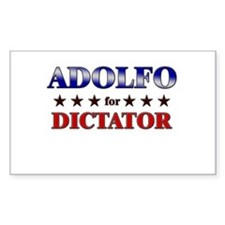 ADOLFO for dictator Rectangle Decal
