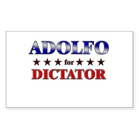 ADOLFO for dictator Rectangle Sticker