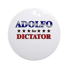ADOLFO for dictator Ornament (Round)