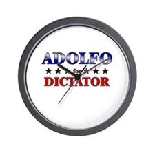 ADOLFO for dictator Wall Clock