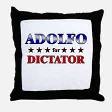 ADOLFO for dictator Throw Pillow