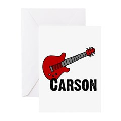 Guitar - Carson Greeting Cards (Pk of 20)