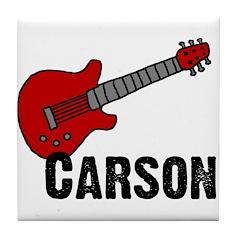 Guitar - Carson Tile Coaster