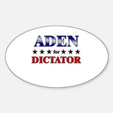 ADEN for dictator Oval Decal