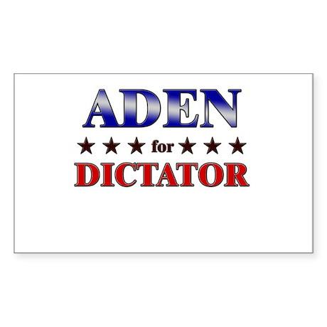 ADEN for dictator Rectangle Sticker