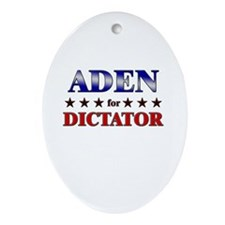 ADEN for dictator Oval Ornament