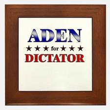 ADEN for dictator Framed Tile