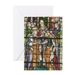 Stain Glass New Orleans Art Greeting Card