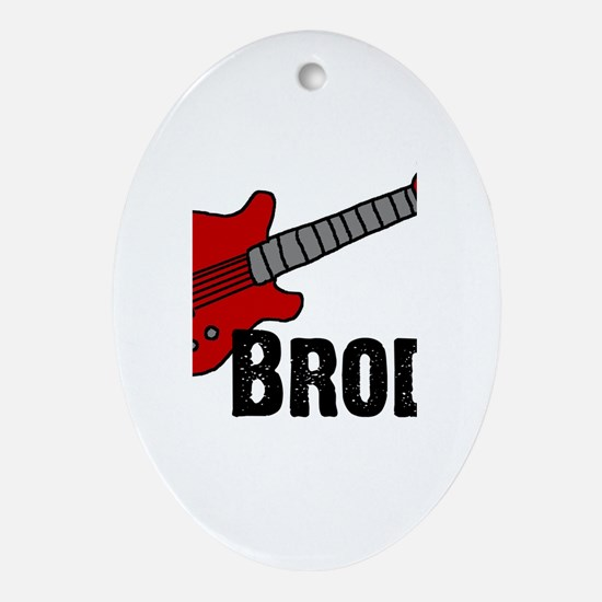 Guitar - Brody Oval Ornament
