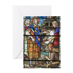 Stain Glass Christmas Art Greeting Card