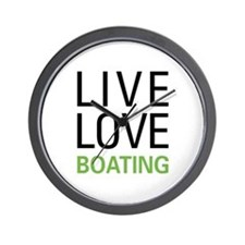 Live Love Boating Wall Clock