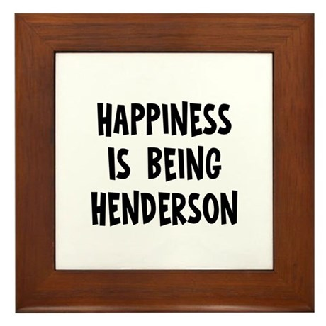 Happiness is being Henderson Framed Tile