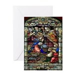 New Orleans Stain Glass Art Greeting Card