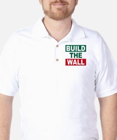 Build The Wall Golf Shirt