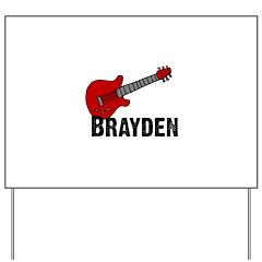 Guitar - Brayden Yard Sign