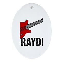 Guitar - Brayden Oval Ornament