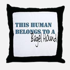 This Human Belongs To Throw Pillow