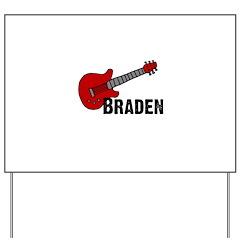 Guitar - Braden Yard Sign