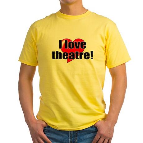 "ThMisc ""I Love Theatre"" Yellow T-Shirt"