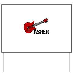 Guitar - Asher Yard Sign