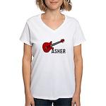Guitar - Asher Women's V-Neck T-Shirt