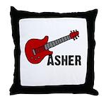 Guitar - Asher Throw Pillow