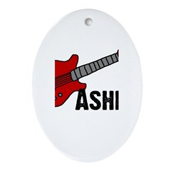 Guitar - Asher Oval Ornament